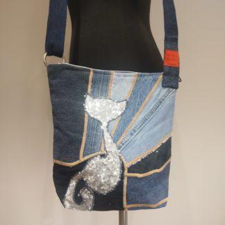 torebka listonoszka z dżinsu