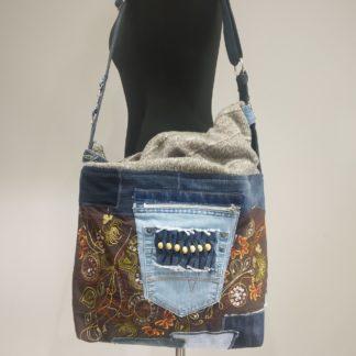 torba shopperka z dżinsu
