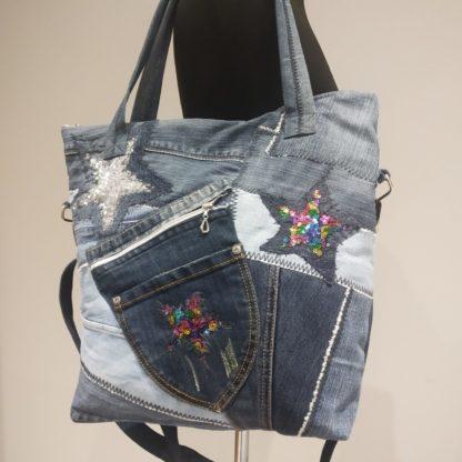 shopperka z dżinsu