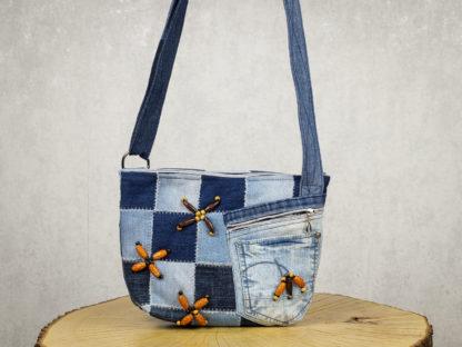torba listonoszka z jeansu