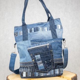 torba shopper z jeansu