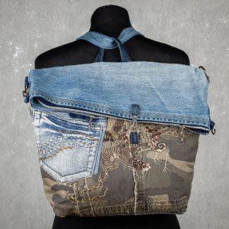 torbo-plecak z jeansu